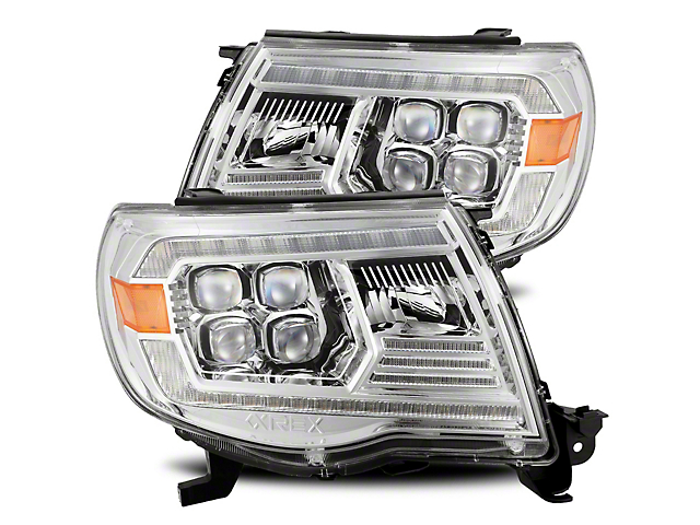 NOVA-Series LED Projector Headlights; Chrome Housing; Clear Lens (05-11 Tacoma w/o Factory DRL)