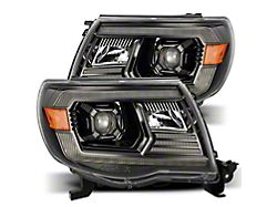 PRO-Series Projector Headlights; Alpha Black Housing; Clear Lens (05-11 Tacoma w/o Factory DRL)