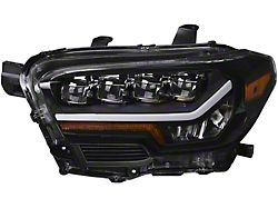Quad-Pro LED Projector Headlights; Black Housing; Clear Lens (16-21 Tacoma w/o Factory LED DRL)