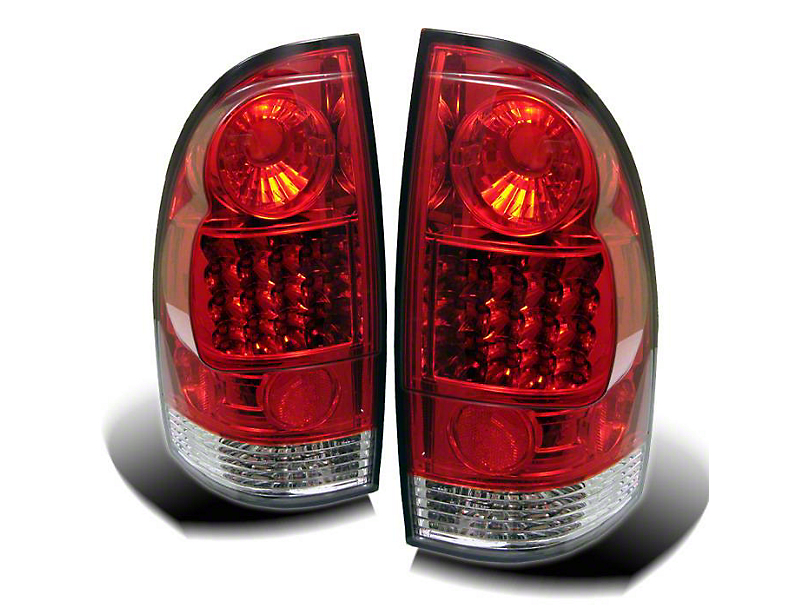 Red Smoked LED Tail Lights (05-15 Tacoma)