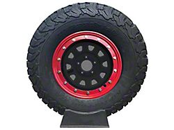 Prosport 15-Inch Simulated Beadlock Wheel Ring; Red (Universal; Some Adaptation May Be Required)