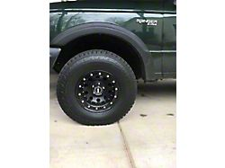 Prosport 16-Inch Simulated Beadlock Wheel Ring; Black (Universal; Some Adaptation May Be Required)