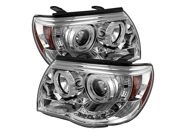 CCFL Halo Projector Headlights; Chrome (05-11 Tacoma)
