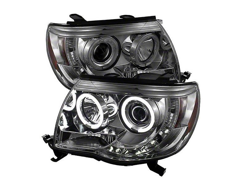 CCFL Halo Projector Headlights; Smoked (05-11 Tacoma)