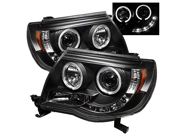 Axial Black Projector Headlights w/ LED Halos (05-11 Tacoma)