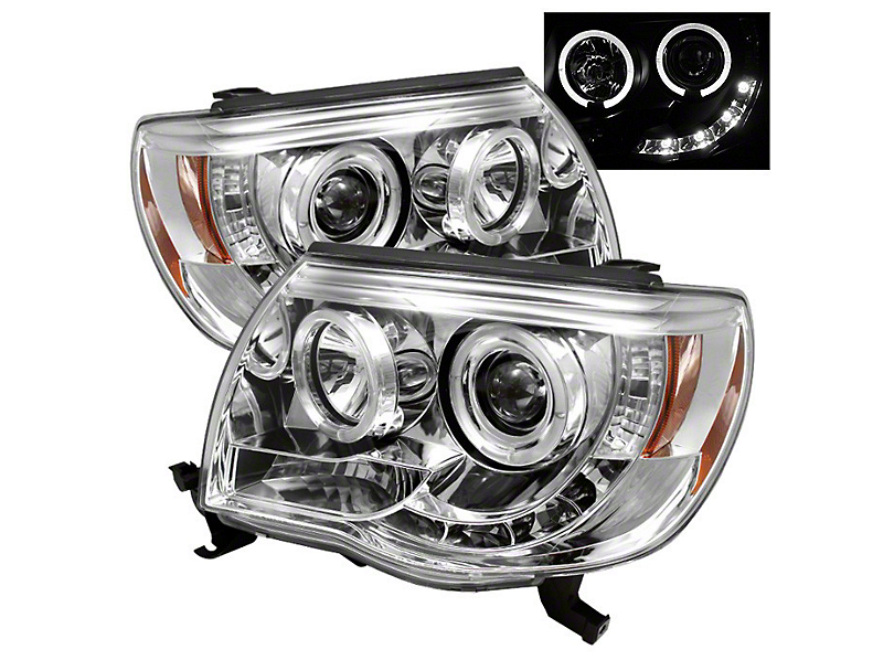Axial Chrome Projector Headlights w/ LED Halos (05-11 Tacoma)