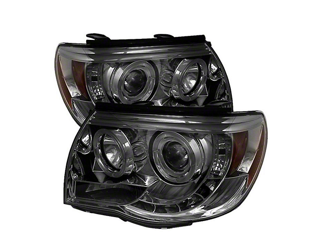 Axial Smoked Projector Headlights w/ LED Halos (05-11 Tacoma)