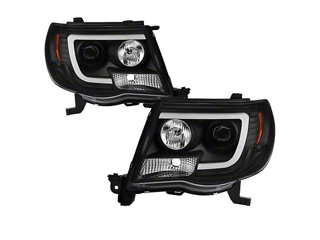 Axial Black V2 Projector Headlights w/ Daytime Running Light (05-11 Tacoma)