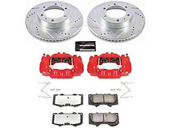 Power Stop Z36 Extreme Truck and Tow 6-Lug Brake Rotor, Pad and Caliper Kit; Front (05-21 Tacoma)