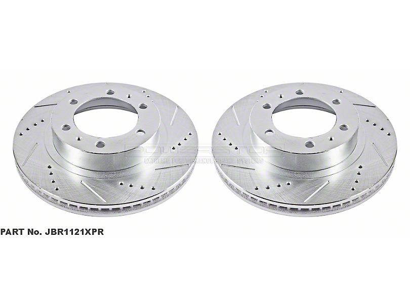 Power Stop Evolution Cross-Drilled & Slotted 6-Lug Rotors - Front Pair (05-20 Tacoma)