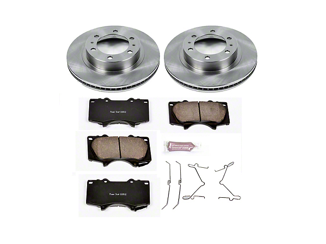 Power Stop OE Replacement 6-Lug Brake Rotor and Pad Kit; Front (05-21 Tacoma)