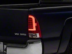 Light Bar LED Tail Lights; Chrome Housing; Red/Clear Lens (05-15 Tacoma w/o Factory LED Tail Lights)