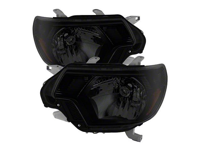 OE Style Headlights; Black Housing; Smoked Lens (12-15 Tacoma)