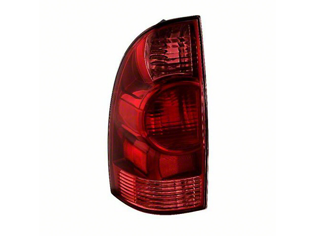 OE Style Tail Light; Chrome Housing; Red/Clear Lens; Driver Side (05-08 Tacoma)
