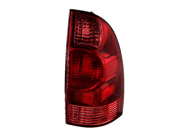 OE Style Tail Light; Chrome Housing; Red/Clear Lens; Passenger Side (05-08 Tacoma)