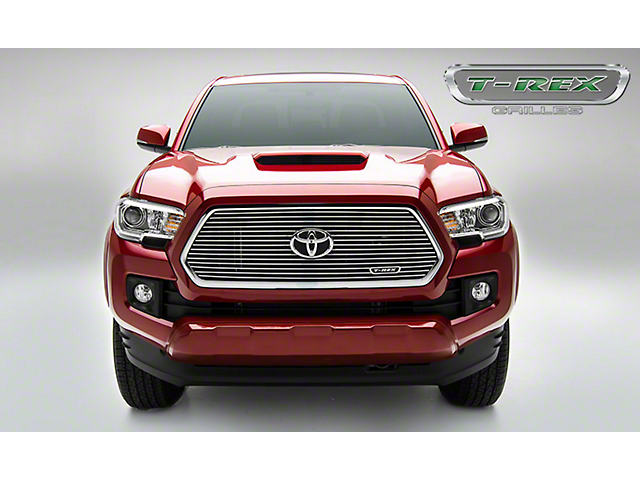 T-REX Laser Billet Series Upper Grille Insert with Logo Recess; Polished (16-17 Tacoma)