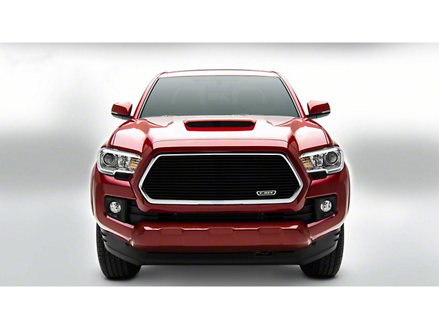 T-REX Laser Billet Series Upper Grille Insert without Logo Recess; Black (16-17 Tacoma)