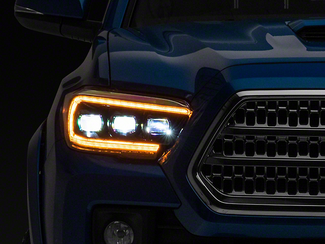 Morimoto GEN2 XB LED Projector Headlights; Black Housing; Clear Lens (16-21 Tacoma)
