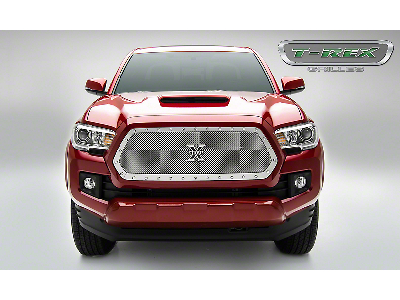 T-REX X-Metal Series Upper Grille Insert; Polished (16-17 Tacoma)
