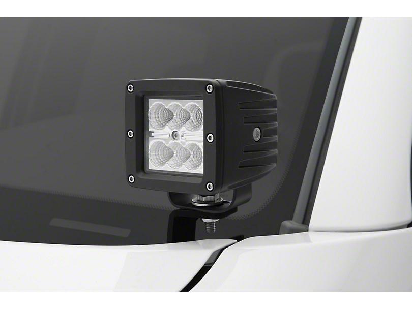 ZRoadz Two 3 in. LED Light Cubes w/ Hood Hinge Mounting Brackets (05-15 Tacoma)