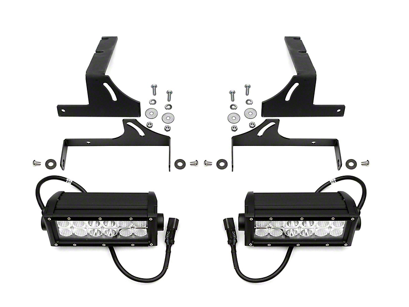 ZRoadz 6 in. LED Light Bar Rear Bumper Mounting Brackets (16-19 Tacoma)