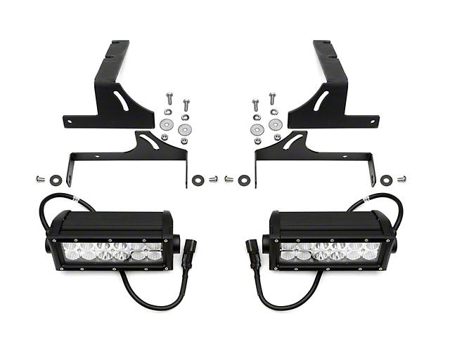 ZRoadz Two 6 Inch LED Light Bars w/ Rear Bumper Mounting Brackets (16-20 Tacoma)