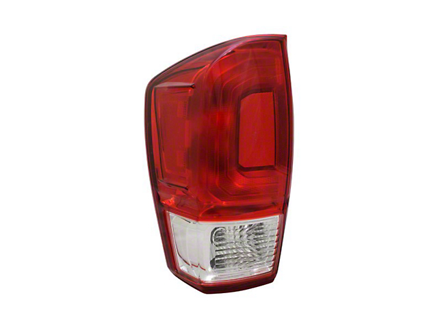 Tail Light; Chrome Housing; Red/Clear Lens; Driver Side; CAPA Certified Replacement Part (16-21 Tacoma)