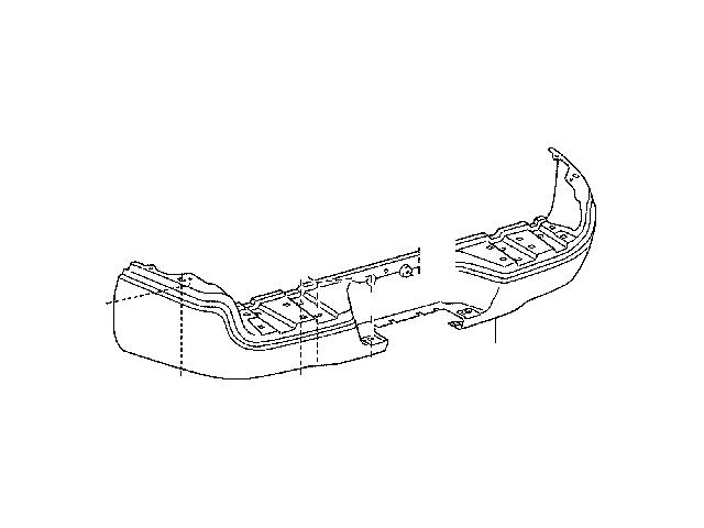 Toyota Rear Step Bumper Shell; Chrome (05-15 Tacoma)