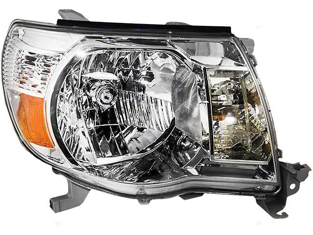 Toyota Headlight; Chrome Housing; Clear Lens; Driver Side (05-11 Tacoma)