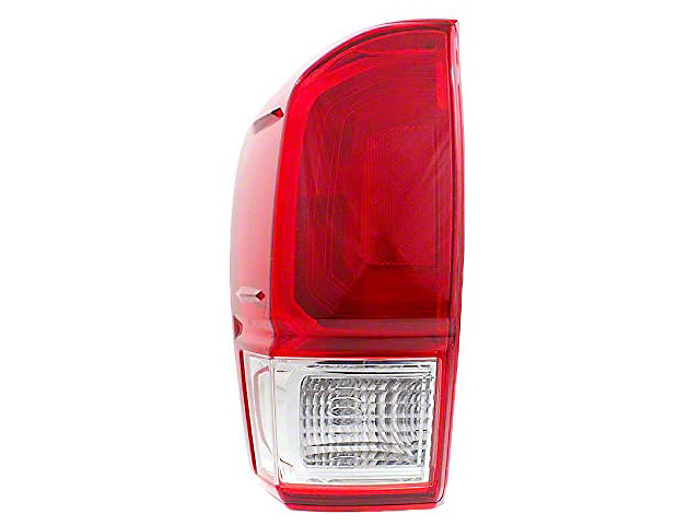 Toyota Factory Replacement Tail Light; Chrome Housing; Red/Clear Lens; Driver Side (16-21 Tacoma)