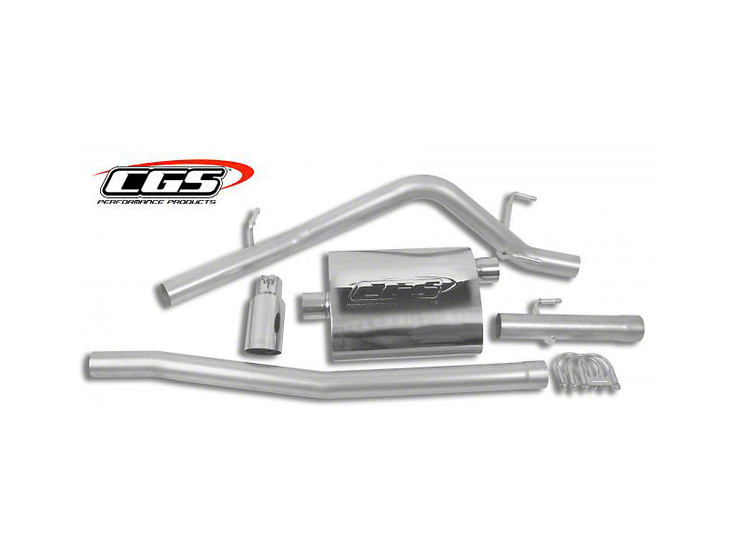 CGS Motorsports Stainless Single Exhaust System with Polished Tip; Side Exit (05-13 4.0L Tacoma)