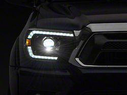 LUXX-Series LED Projector Headlights; Alpha Black Housing; Clear Lens (12-15 Tacoma)