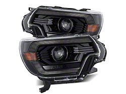 PRO-Series Projector Headlights; Alpha Black Housing; Clear Lens (12-15 Tacoma)