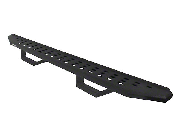 RB20 Running Boards with Drop Steps; Black Bedliner Coating (05-20 Tacoma Double Cab)