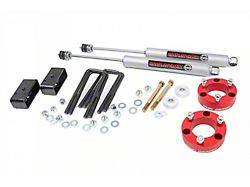 Rough Country 3-Inch Suspension Lift Kit with Premium N3 Shocks and Red Spacers (05-21 6-Lug Tacoma)