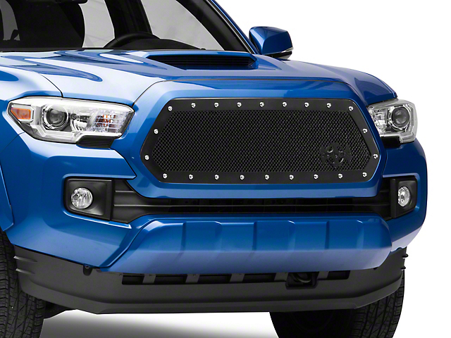 RCR Race Line Upper Replacement Grille - Satin Black (16-21 Tacoma)