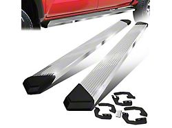Pleated Running Boards; Stainless Steel (05-21 Tacoma Double Cab)