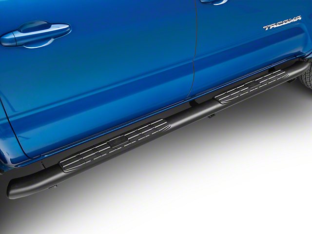 4 Inch Blackout Series Side Step Bars (05-20 Tacoma Double Cab)
