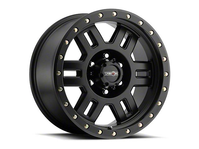 Vision Off-Road 398 Manx Matte Black 6-Lug Wheel; 16x8; 0mm Offset (05-15 Tacoma)