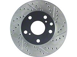 StopTech Sport Drilled and Slotted 5-Lug Rotor; Front Driver Side (05-15 Tacoma)