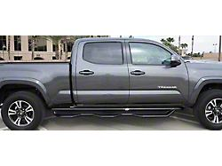 HD Wheel to Wheel Side Step Bars; Textured Black (05-21 Tacoma Double Cab w/ 6-Foot Bed)