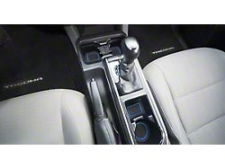 Center Console Cup Holder Inserts without QI Phone Charger Insert; Black/Blue (16-21 Tacoma w/ Automatic Transmission)