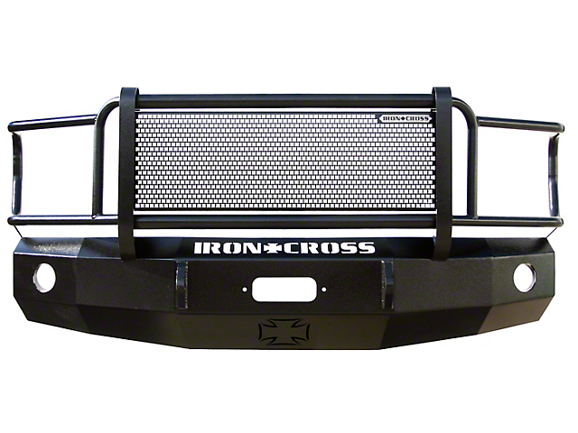 Iron Cross Heavy Duty Grille Guard Front Bumper; Gloss Black (05-11 Tacoma)