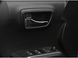 Front Door Handle Surround Accent Trim; Matte Black (16-21 Tacoma)