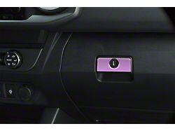 Glove Box Handle Accent Trim; Lavender Purple (16-21 Tacoma)