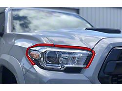 Headlight Accent Trim; Matte TRD Red (16-21 Tacoma)