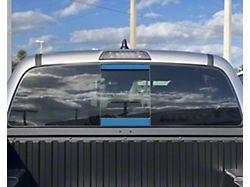 Rear Power Sliding Window Accent Trim; Cavalry Blue (16-21 Tacoma)