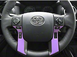 4-Button Steering Wheel Accent Trim; Lavender Purple (14-21 Tundra)