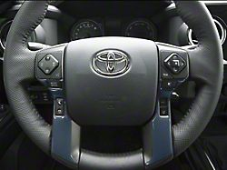 4-Button Steering Wheel Accent Trim; Cavalry Blue (16-21 Tacoma)