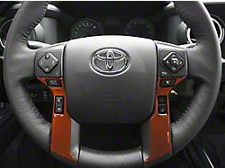 4-Button Steering Wheel Accent Trim; Inferno (14-21 Tundra)